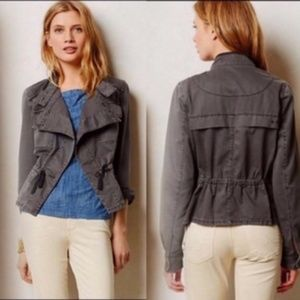 Anthropologie Hei Hei Gray Cargo Jacket